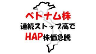 【ベトナム株報告】HAP(ハパコ製紙)2020年夏、連続ストップ高で株価急騰