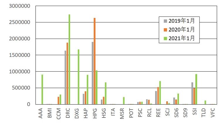 ベトナム株銘柄別資産状況(2021年1月)